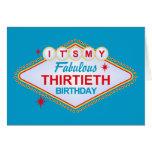 Trigésimo cumpleaños de Las Vegas Tarjeta