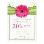 Trigésimo cumpleaños del Gerbera de la cinta anara Anuncio Personalizado