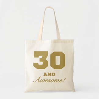 Trigésimo cumpleaños impresionante bolsa tela barata