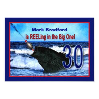 trigésimo cumpleaños - invitación /Reeling en el