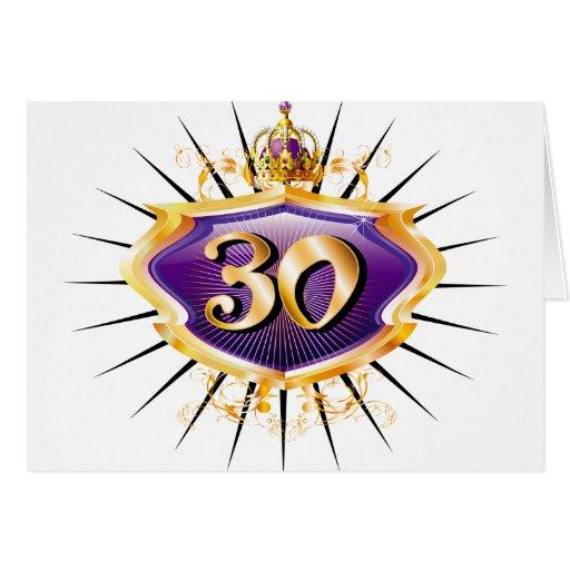 trigésimo Cumpleaños o aniversario Tarjeta De Felicitación