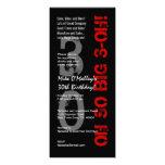 trigésimo Cumpleaños S431 alto rojo blanco negro t Anuncio