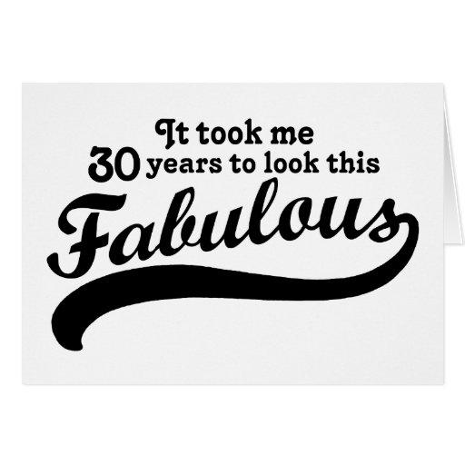 trigésimo Cumpleaños Tarjeta De Felicitación