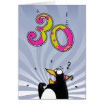 trigésimo cumpleaños - tarjeta de la sorpresa del