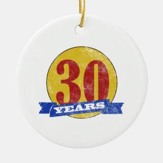 Trigésimo cumpleaños único ornamentos de reyes magos