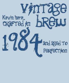 trigésimo Dril de algodón 1984 del azul del Brew d Camiseta