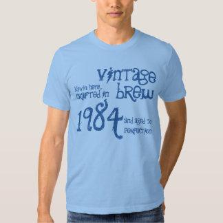 trigésimo Dril de algodón 1984 del azul del Brew Remera