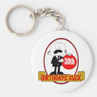trigésimo El cumpleaños chupa los regalos Llaveros