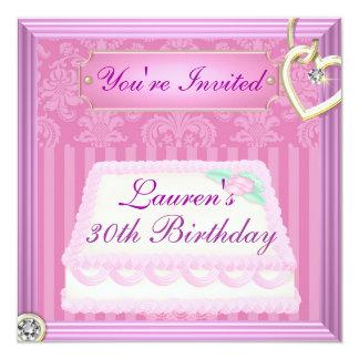 """trigésimo El VINTAGE del cumpleaños PICA la Invitación 5.25"""" X 5.25"""""""
