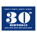 trigésimo Fiesta azul y blanca v001 de la SORPRESA Invitaciones Personalizada