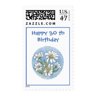 trigésimo Franqueo del cumpleaños Sello Postal