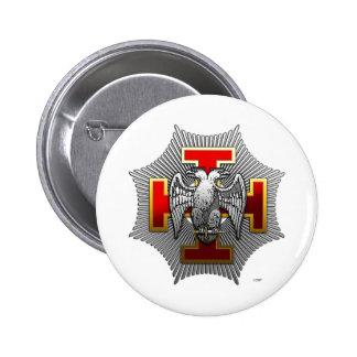 trigésimo Grado: Caballero Kadosh Pin Redondo De 2 Pulgadas