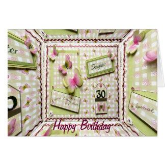 trigésimo Hija del cumpleaños Tarjeta De Felicitación