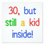 Trigésimo humor del cumpleaños de la diversión comunicados personalizados