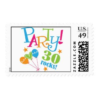trigésimo Ideas del regalo de cumpleaños Sello Postal