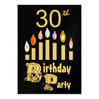 trigésimo Invitación de la fiesta de cumpleaños -