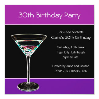 trigésimo Invitación de la fiesta de cumpleaños