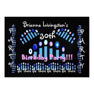 trigésimo Invitación de la fiesta de cumpleaños - Invitación 12,7 X 17,8 Cm