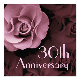 trigésimo Invitación del aniversario - color de Invitación 13,3 Cm X 13,3cm