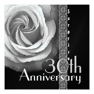 trigésimo Invitación del aniversario de la