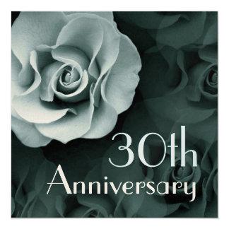 trigésimo Invitación del aniversario - TURQUESA Invitación 13,3 Cm X 13,3cm