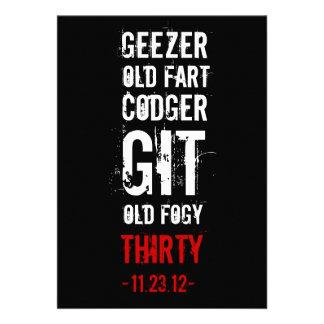 trigésimo Invitación del cumpleaños - Geezers y vi