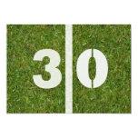 trigésimo Invitación del fiesta del fútbol del Invitación 12,7 X 17,8 Cm