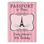 trigésimo Invitación del pasaporte de París del Tarjeta Pequeña