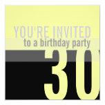 trigésimo Invitaciones de la fiesta de cumpleaños Comunicado Personalizado