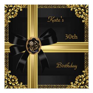 """trigésimo Joya negra real rica del oro de la Invitación 5.25"""" X 5.25"""""""