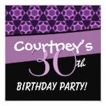 trigésimo Modelo púrpura del hexágono de la fiesta Invitación 13,3 Cm X 13,3cm