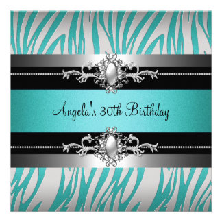 trigésimo Negro de plata azul del trullo de la ceb Invitacion Personal