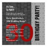 trigésimo Negro de plata rojo moderno D418 del cum Invitacion Personal