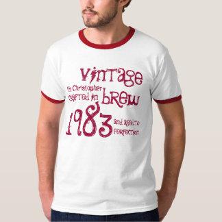 trigésimo Nombre 1983 del Brew del vintage del Camisas