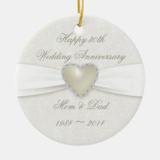 Trigésimo ornamento del aniversario de boda del ornamentos de reyes