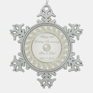trigésimo Ornamento del copo de nieve del estaño Adorno De Peltre En Forma De Copo De Nieve