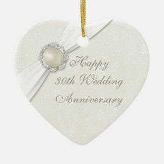 Trigésimo ornamento del corazón del aniversario de