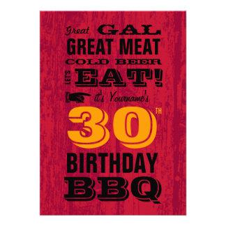 trigésimo Parrilla del Bbq del cumpleaños hacia fu