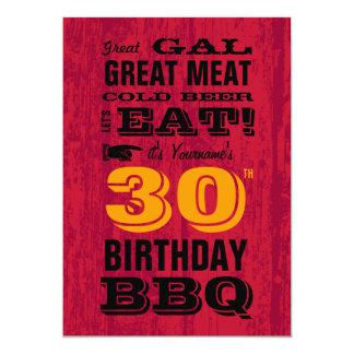 trigésimo Parrilla del Bbq del cumpleaños hacia Invitaciones Personalizada