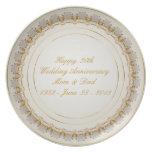 trigésimo Placa del aniversario de boda Plato