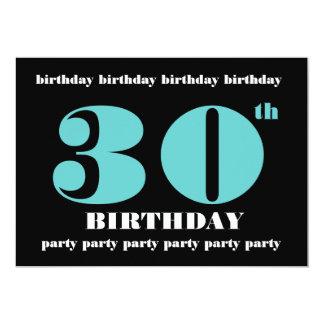 trigésimo Plantilla de la invitación de la fiesta Invitación 12,7 X 17,8 Cm