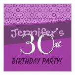 trigésimo Plantilla festiva púrpura de las Invitación 13,3 Cm X 13,3cm