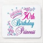 trigésimo Princesa del cumpleaños Alfombrillas De Raton