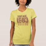 trigésimo Púrpura poner crema 1983 del vintage del Camiseta