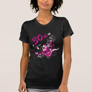 Trigésimo regalo de cumpleaños floral camisetas