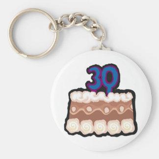 trigésimo Regalos de cumpleaños Llavero Personalizado