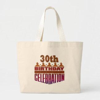 trigésimo Regalos de la celebración del cumpleaños Bolsa Tela Grande