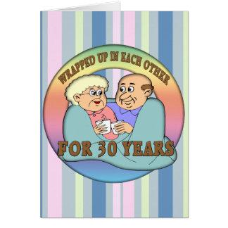 trigésimo Regalos del aniversario de boda Tarjeta