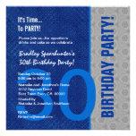 trigésimo S300 azul del cumpleaños y de plata mode Anuncios Personalizados