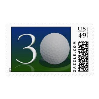 trigésimo Sellos del golf del cumpleaños